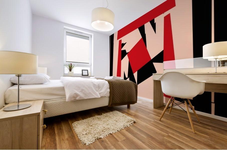 Juggling_Piet_Mondrian Mural print