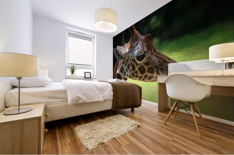 Giraffe  Mural print