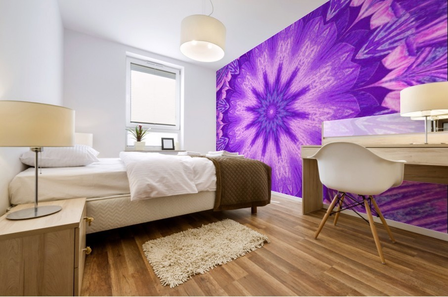 A Summer Pansy 5 Mural print