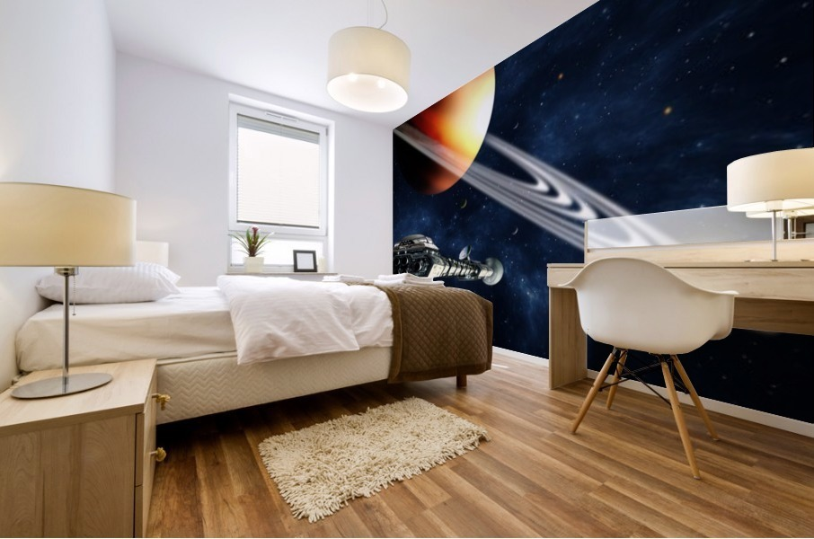 Saturn Fly-By Mural print