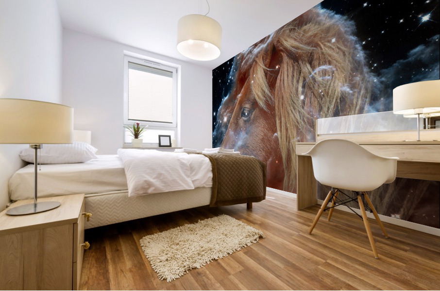 Horsehead Nebula with Horse Head in Space Mural print