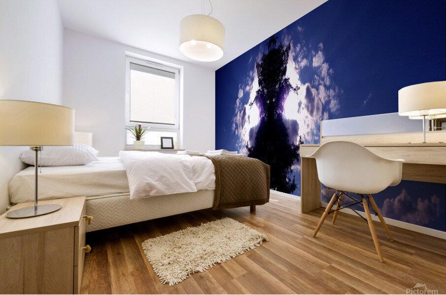 blue 2 Mural print
