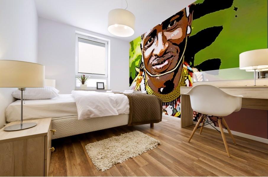 African Mural print