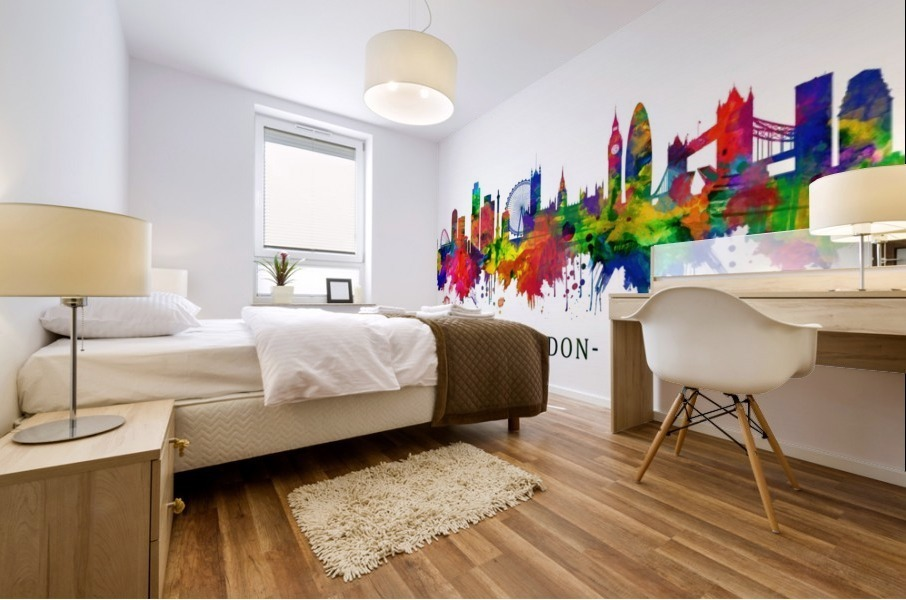 London England Skyline Mural print