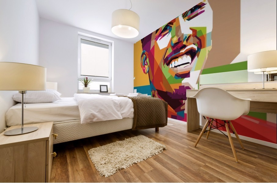 Roberto firmino Mural print
