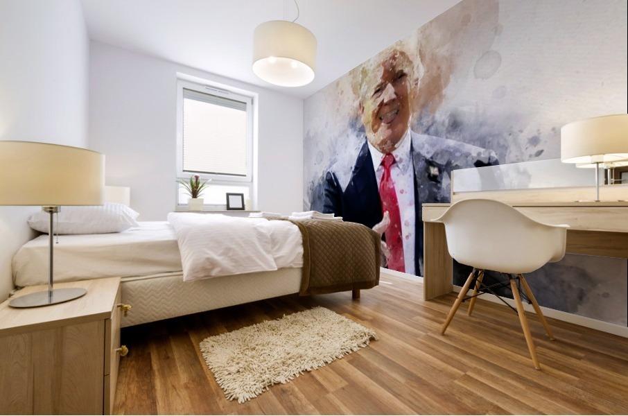 Donald trump Mural print