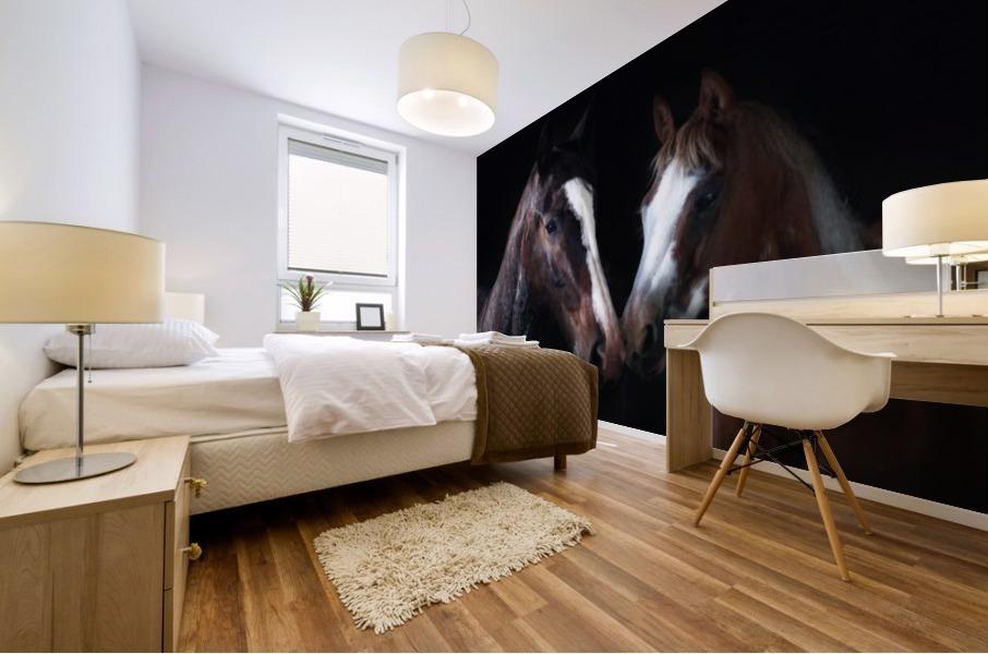 Studio Horses Mural print