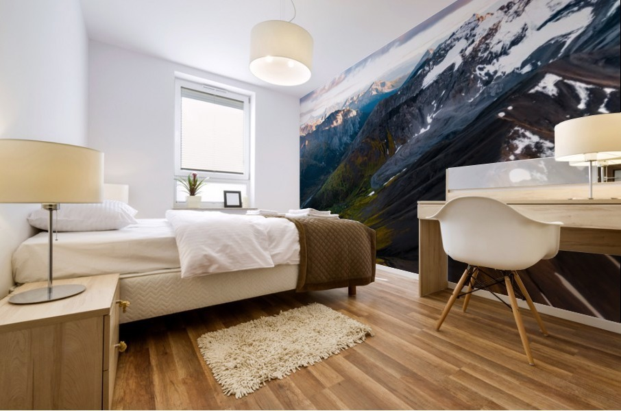 Mountains and Valleys Mural print