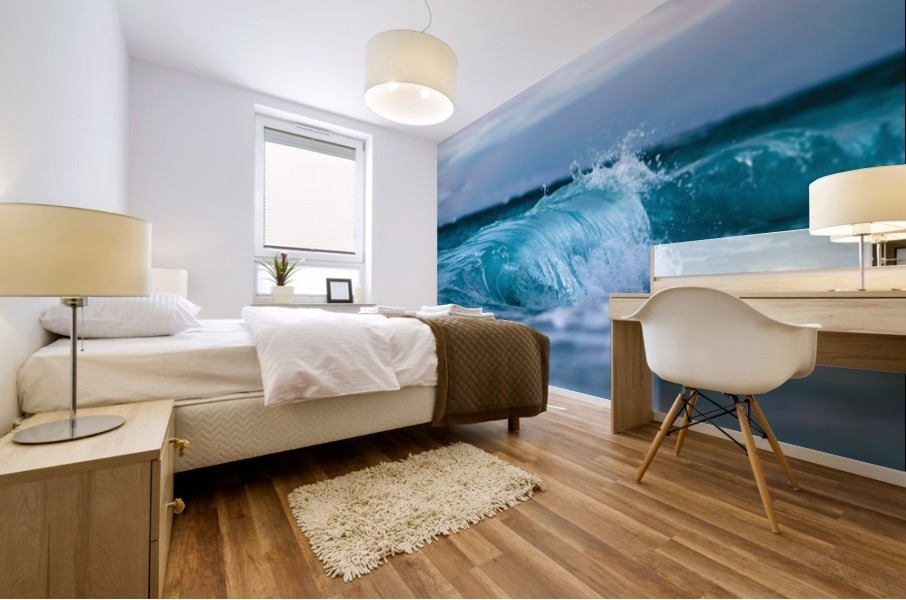 Blue Waves Mural print