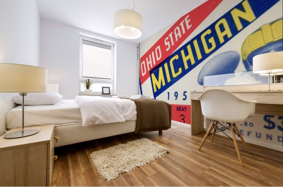 1951 Ohio State vs. Michigan Mural print
