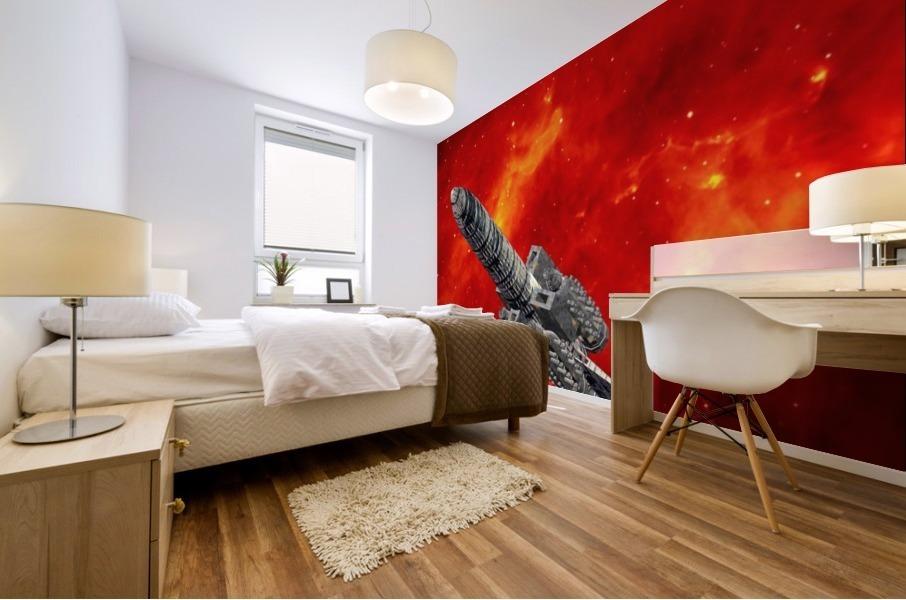 Journey to explore Mars Mural print