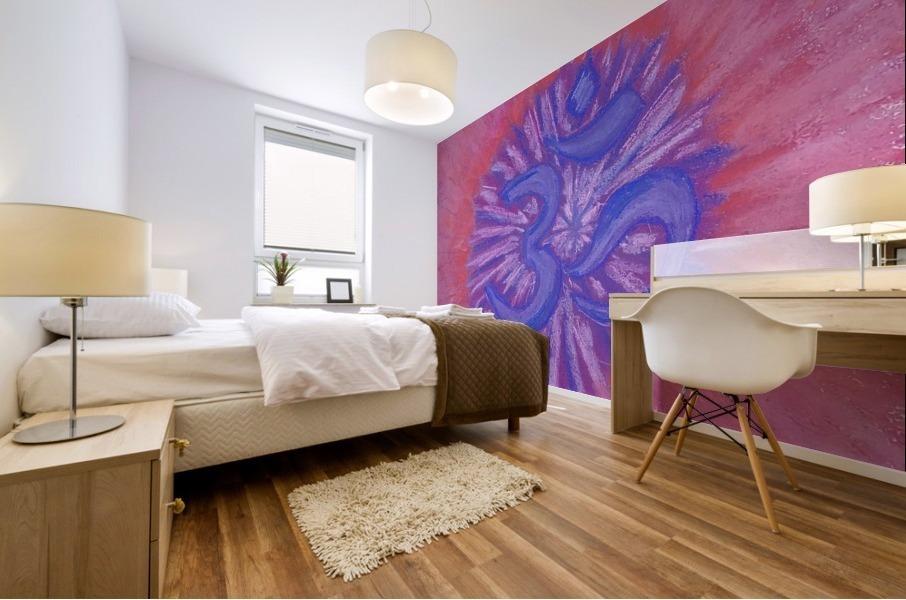 Om pink purple spring 2020 Mural print