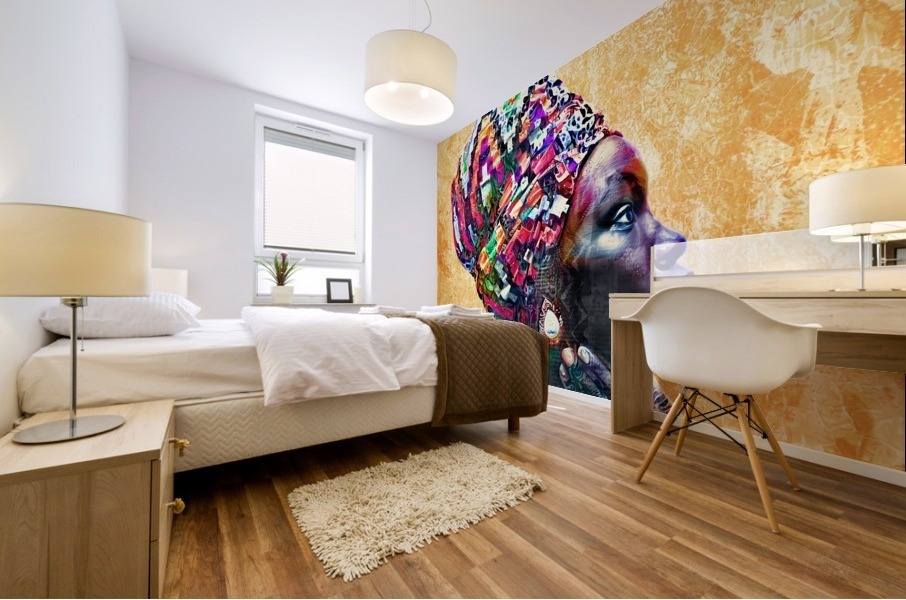 Color Through Culture I Mural print