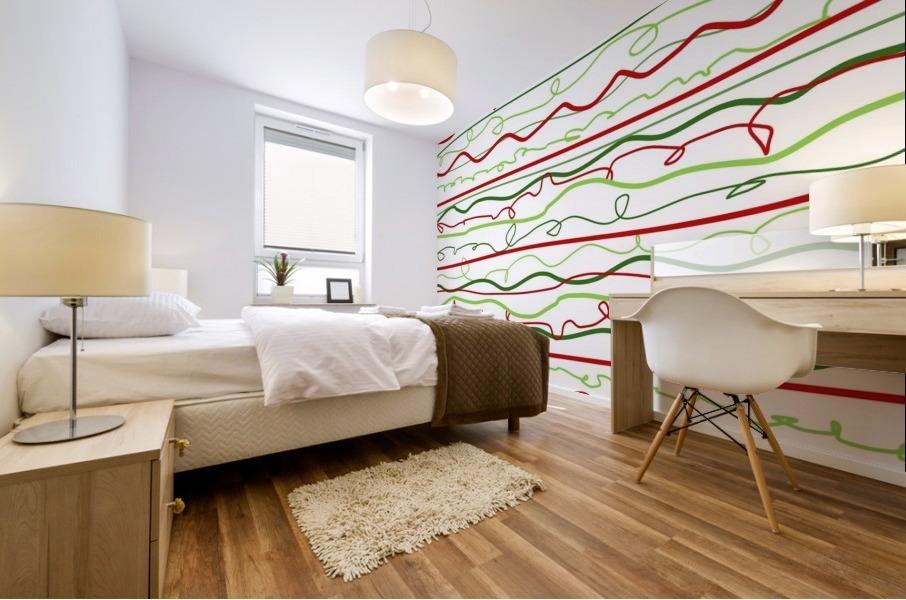 scribble pattern Mural print
