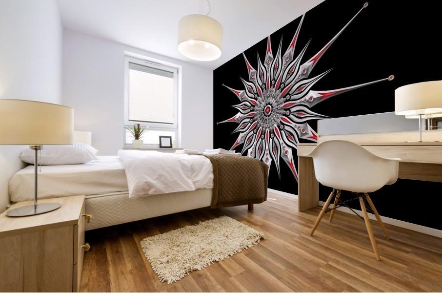 Starfish Fusion Mandala Mural print