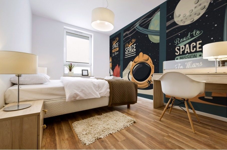 Life space poster with set scenes Mural print