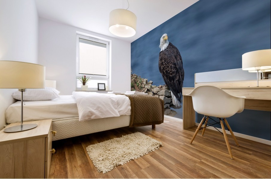 Perched and Proud Mural print