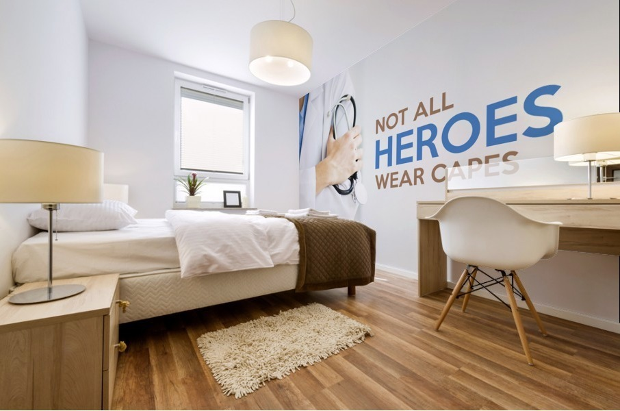 Not All Heroes Wear Capes Mural print