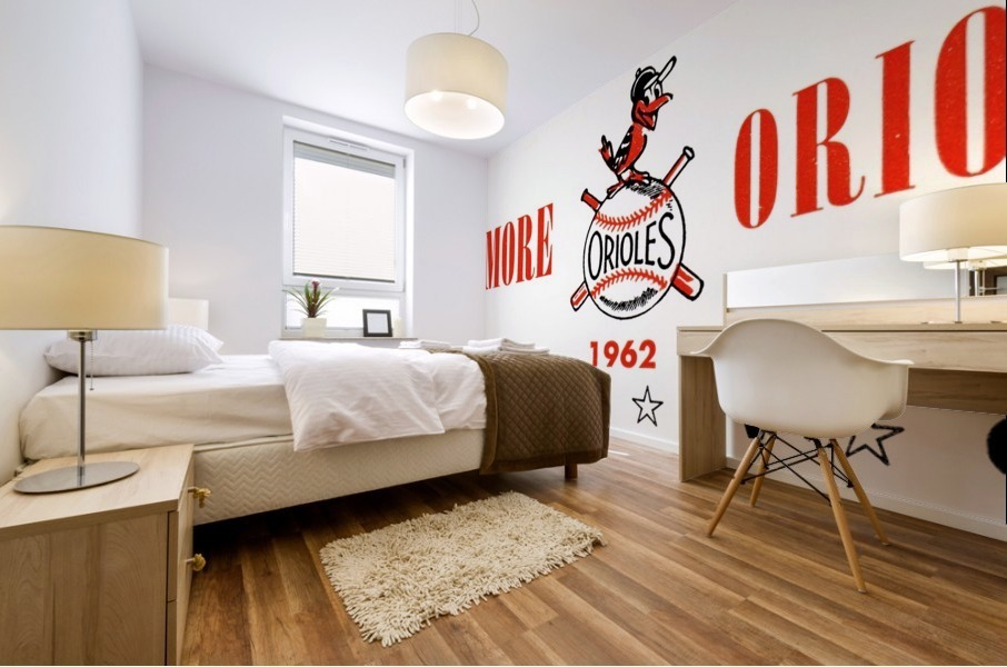 baltimore orioles press guide row one Mural print