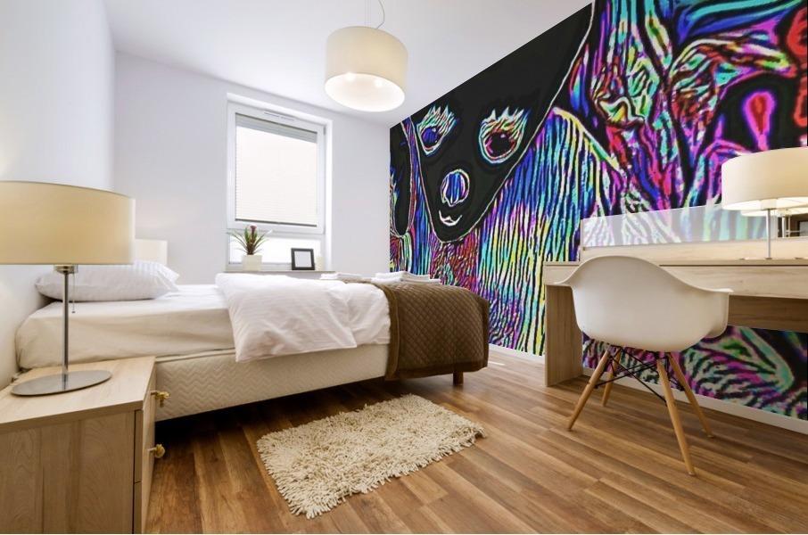 Neon Dreams Mural print