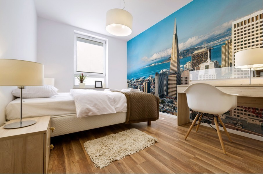 San Francisco Skyline Mural print