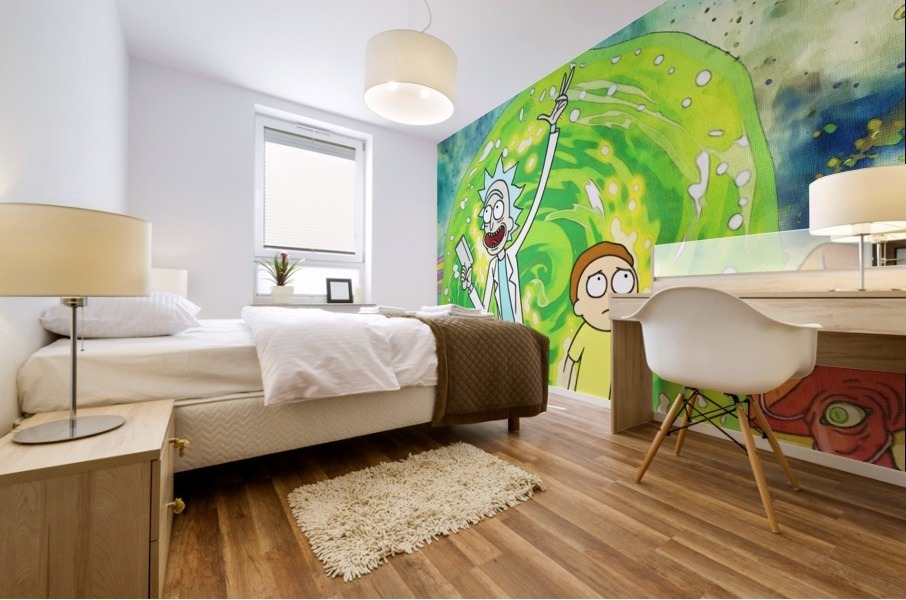 Rick and morty_  Mural print