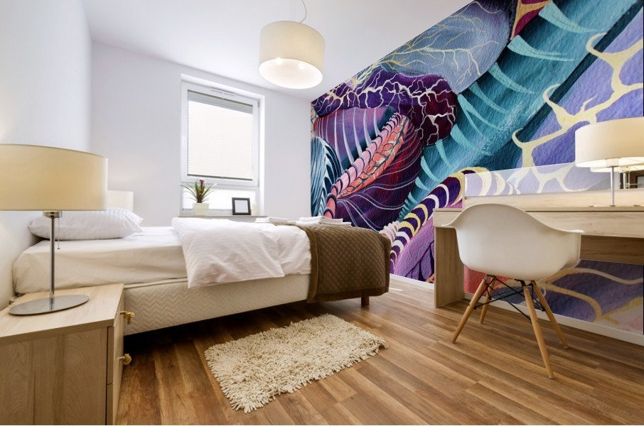 Artdeco Abstract Linear Interlacing Pattern Mural print