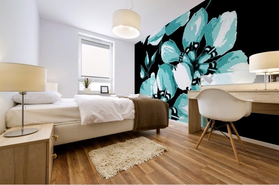 Harmonious Artdeco Floral Pattern  Mural print