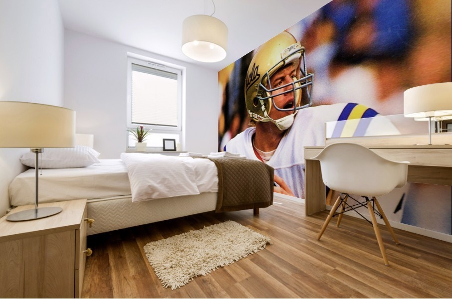 retro college sports posters ucla bruins football Mural print