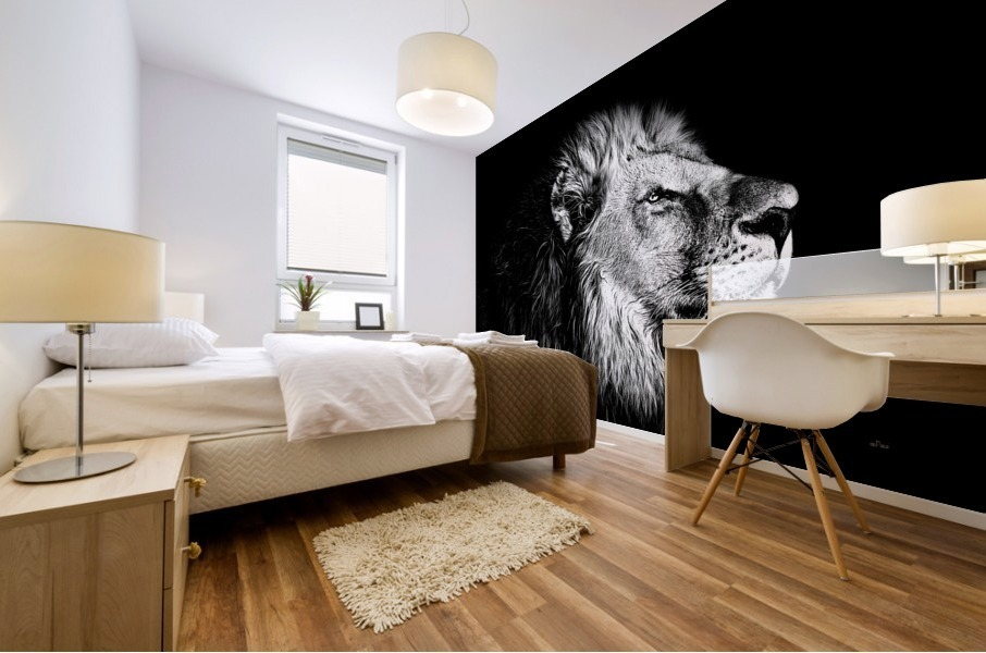 Lion with Attitude Mural print