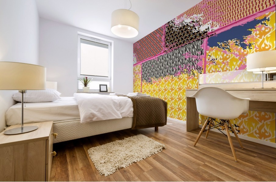 paint and paper board Mural print