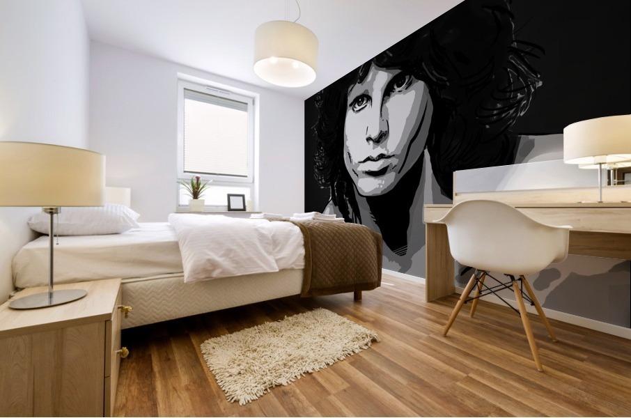 Jim Morrison of The Doors  Mural print