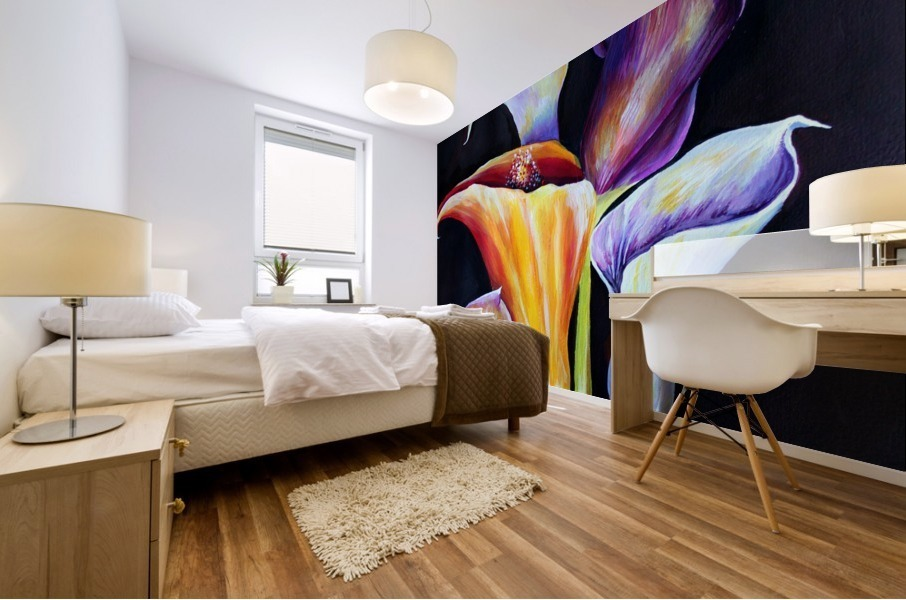 Calla Lilies in Blooming Bouquet Mural print