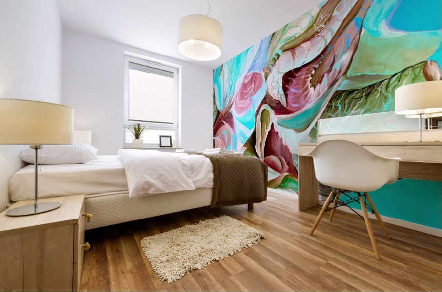 Realm of Tropical Exotic Nature Pattern Mural print