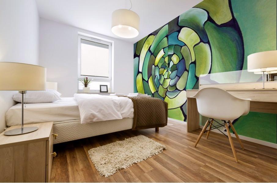 Artdeco Centered Pattern  Mural print