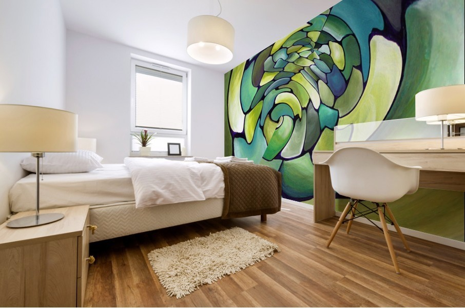 Artdeco Twisted Pattern  Mural print