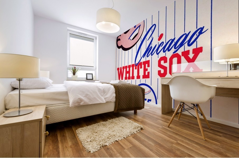 1955 chicago white sox mlb baseball score book poster Mural print