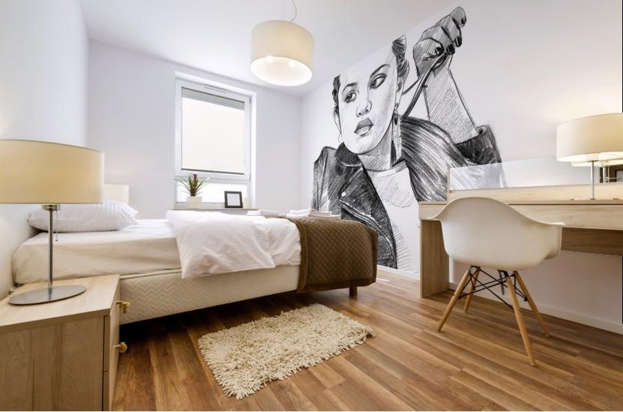 Selena Gomez - Celebrity Pencil Art Mural print