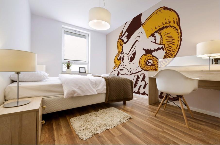 vintage fordham ram mascot college art Mural print