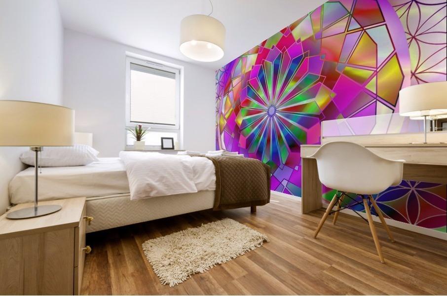 Crystal Flower Mandala Mural print