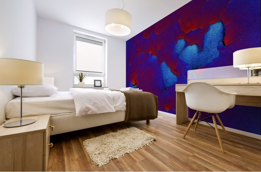 Rouge ecaille Mural print