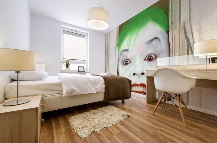 Heres The Joker Mural print