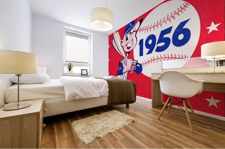 1956 chicago white sox score book canvas Mural print
