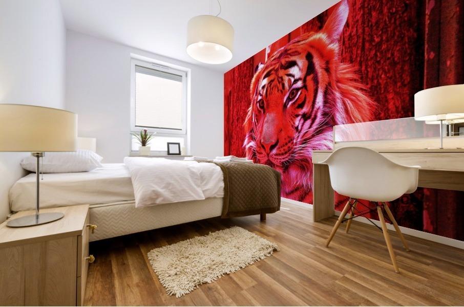 Rare Red Tiger Mural print