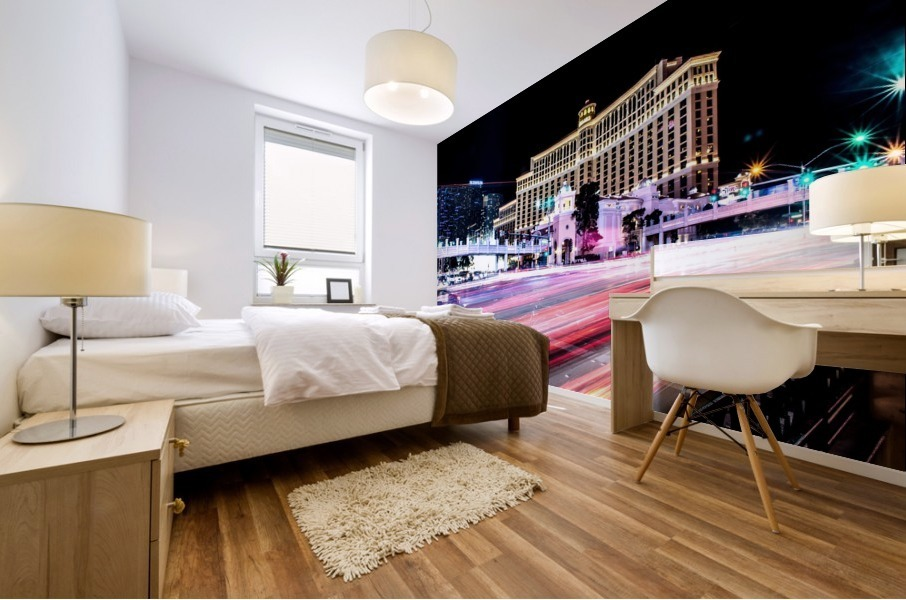 Las vegas night shot Mural print