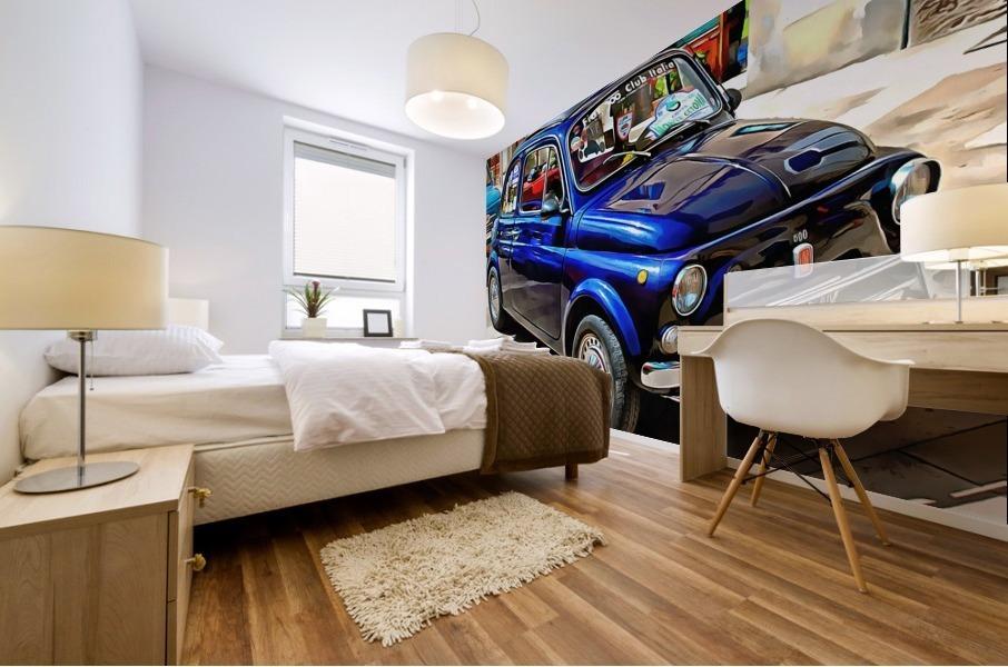 Fiat 500 Dark Blue Version Mural print