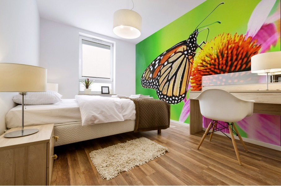 The Beauty Of The Monarch Butterfly Mural print