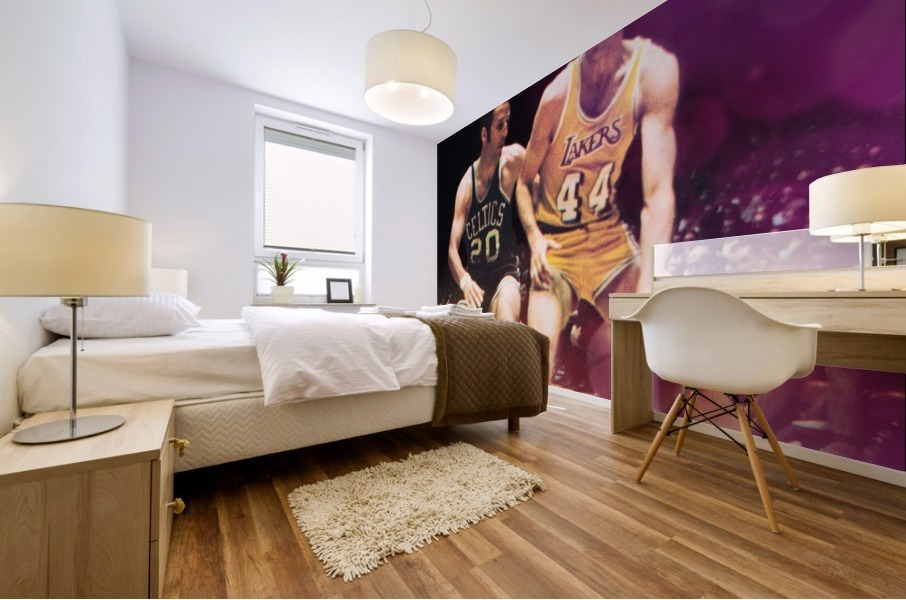 1969 los angeles la lakers jerry west poster Mural print