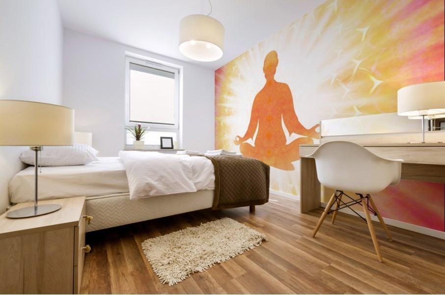 In Meditation - Be The Light Mural print