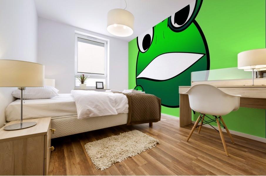 cute little frog Mural print